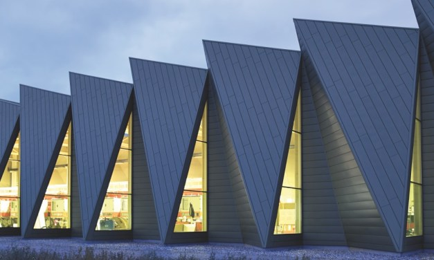 RHEINZINK zinc façade cladding creates distinctive aesthetic with sustainable, enduring performance