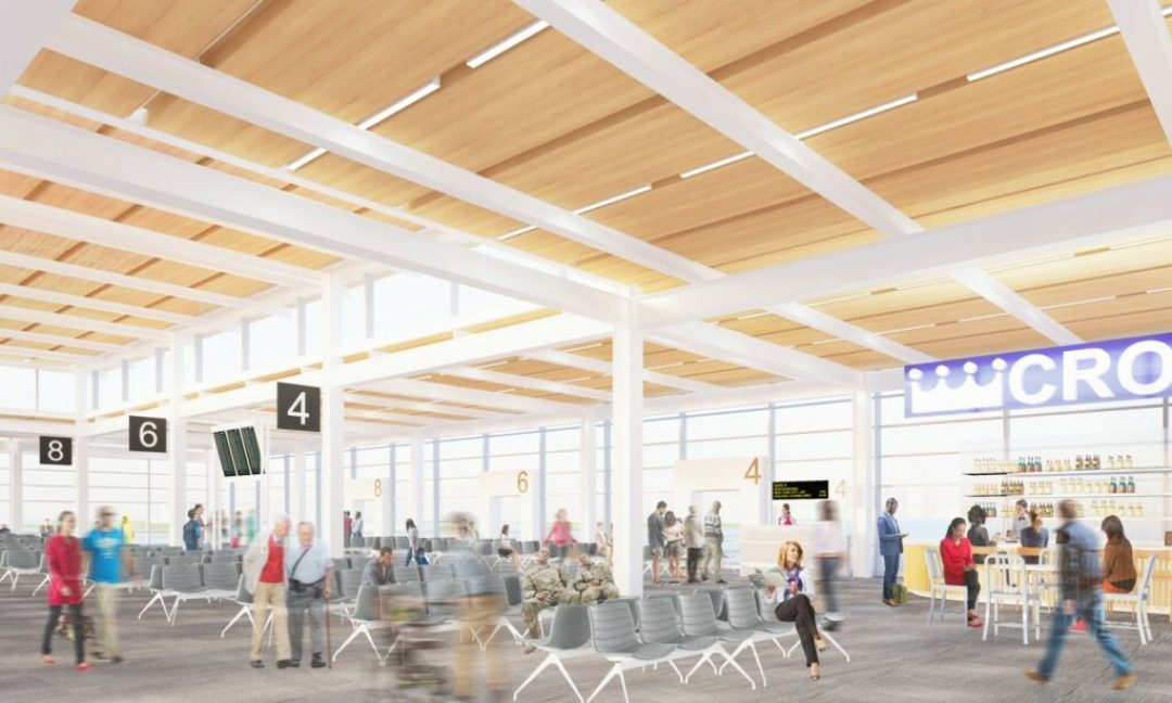 Rendering of KCI new terminal gate lounge. Rendering credit: Skidmore, Owings & Merrill