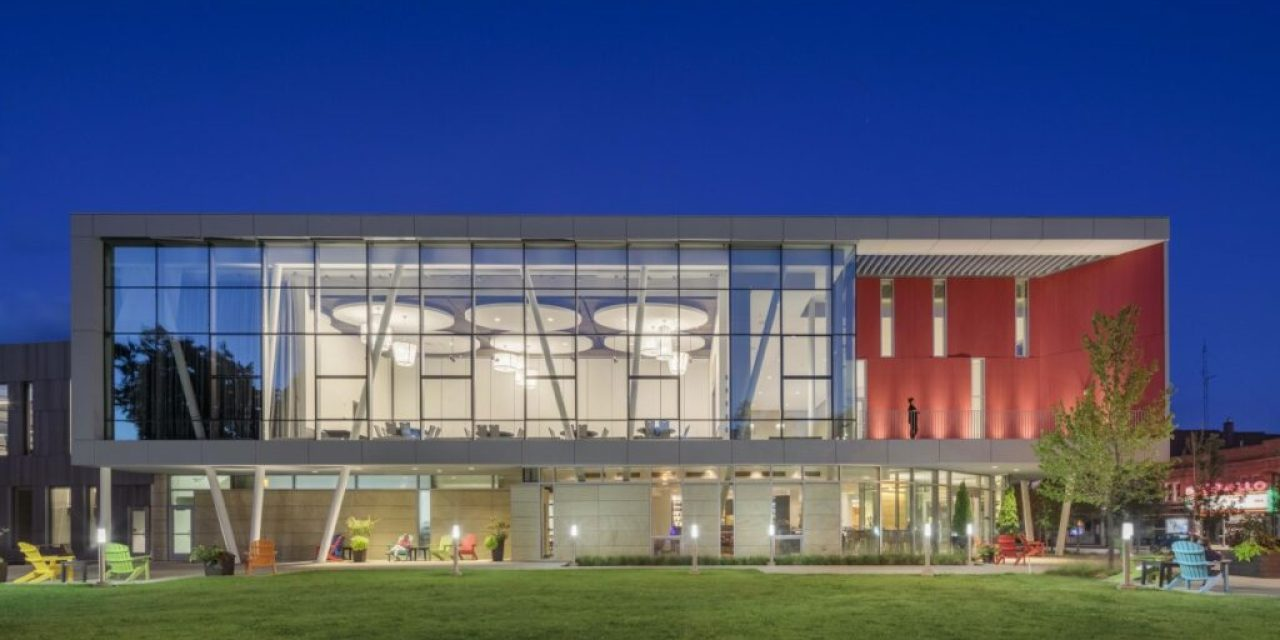 Oberlin College's sustainable mixed-use Lewis Gateway Center serves as cornerstone of Oberlin's Green Arts District