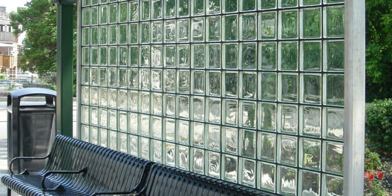 """EXTECH offers GRIDLOCK """"snap-in"""" glass brick wall systems for transit and high-traffic applications"""