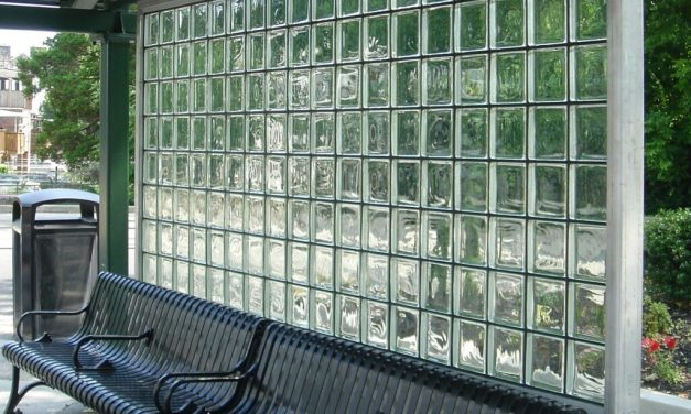 "EXTECH offers GRIDLOCK ""snap-in"" glass brick wall systems for transit and high-traffic applications"