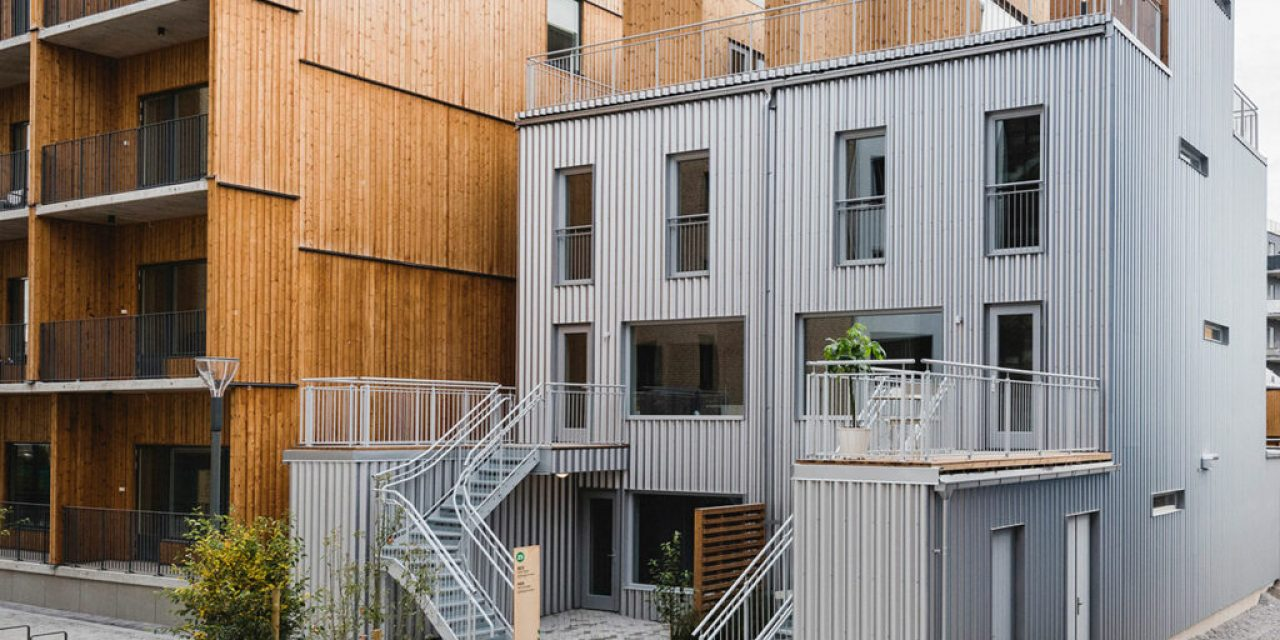 """""""Lilla lntegralen"""" building with distinct façade made from GreenCoat® steel nominated for Platpriset 2019"""