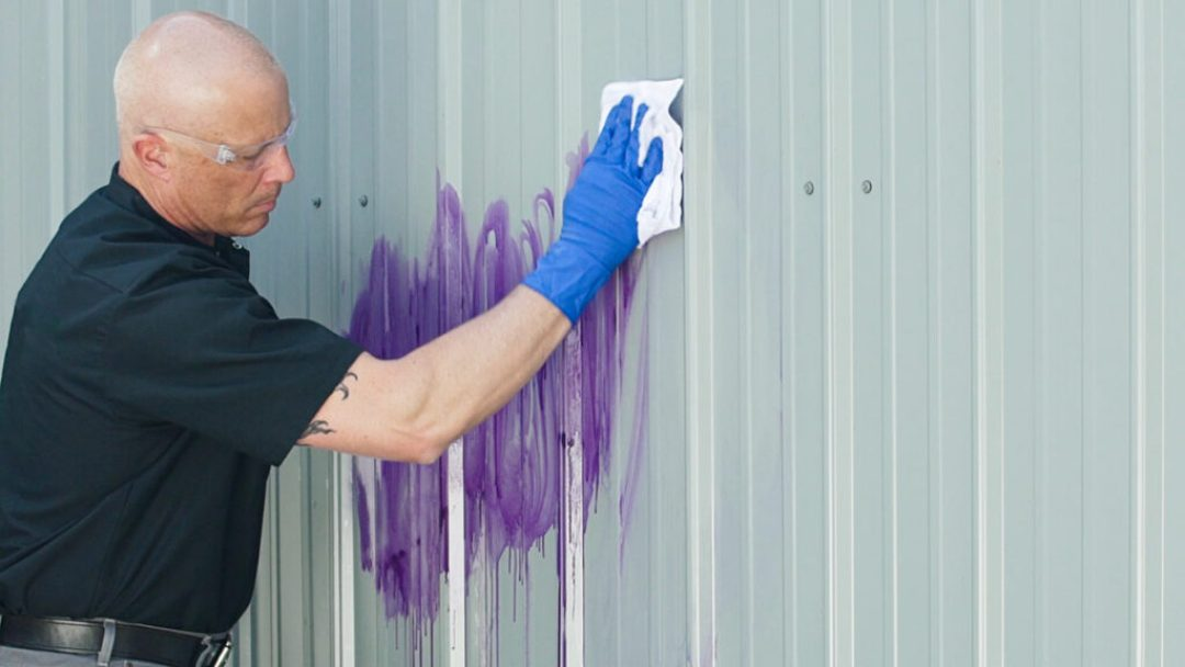 Two-part graffiti resistance systems make it faster and easier to protect the building exterior and remove unwanted damage.