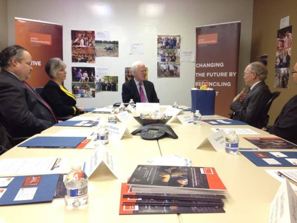 Bert Smith, CEO of PEP, meeting with U.S. Senator John Cornyn