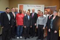 U.S. Senator John Cornyn with graduates and staff of the Prison Entrepreneurship Program