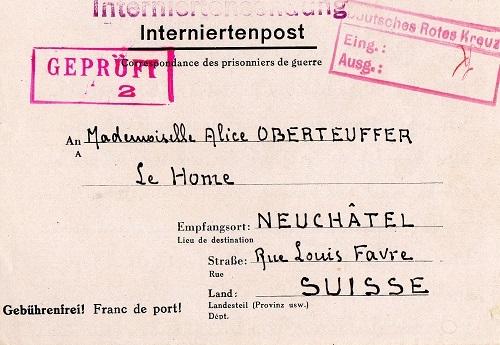 Croix Rouge Allemande interné civil grande caserne St Denis Paris