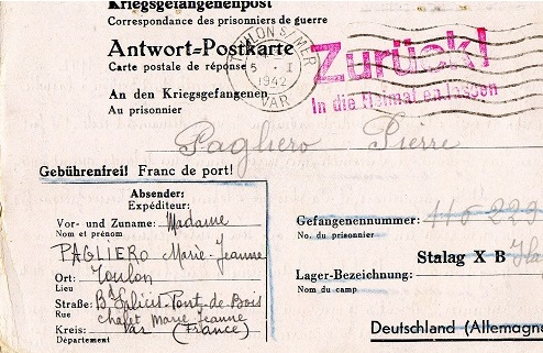 libération marin français Marlag Milag Ilag stalag 10 B