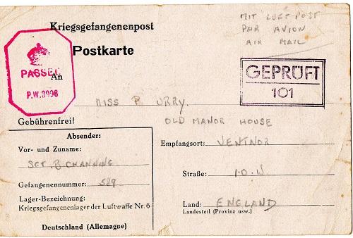 prisonniers de guerre courrier stalag Luft VI