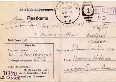prisonniers de guerre courrier stalag Luft I via stalag Luft 3