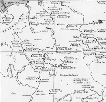 carte géographique Marlag Milag prisonniers de guerre
