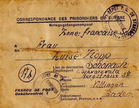 prisonnier de guerre allemand en France après 1945 Strasbourg 105