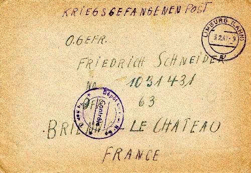 prisonnier de guerre allemand en France après 1945 Brienne le Château 63