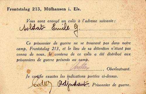 prisonniers de guerre camp de prisonniers front-stalag 213 Mulhouse
