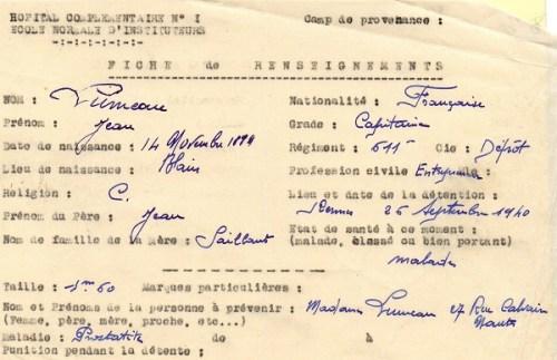 prisonniers de guerre français camp de prisonniers hopital complémentaire n°1 école normale d'institutrices