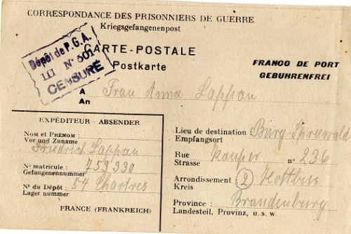 prisonnier de guerre allemand en France après 1945 Chartres 54