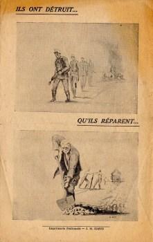 brochure pour emploi prisonnier de guerre allemand en France après 1945