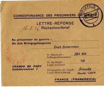 prisonnier de guerre allemand en France après 1945 Brioude 133