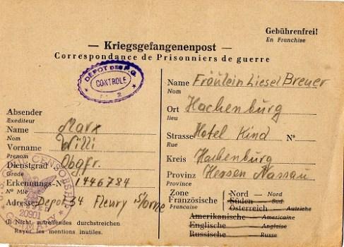 prisonnier de guerre allemand en France après 1945 Fleury-Sur-Orne 2/34