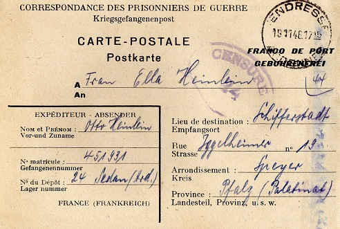 camp de prisonniers allemands n°24 sedan