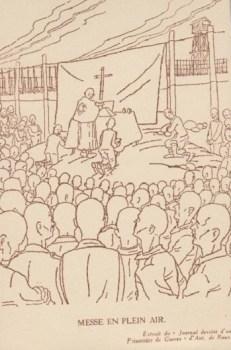 prisonniers de guerre la messe au stalag