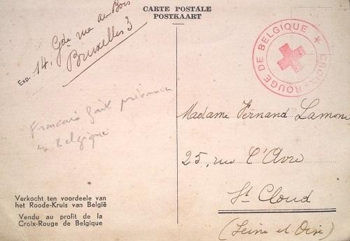 avis de capture par la croix rouge belge