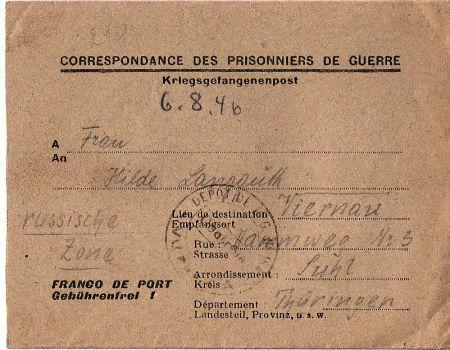 prisonniers de guerre allemands Depot No.154 Sorgues (Avignon)