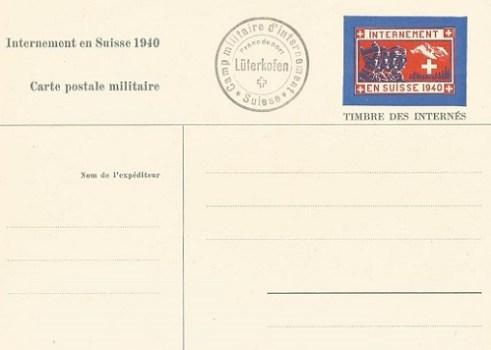 carte spéciale pour prisonniers de guerre français camp de luterkofen