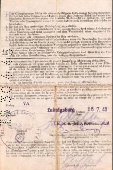 MISE EN CONGE DE LA CAPTIVITE ALLEMANDE1943