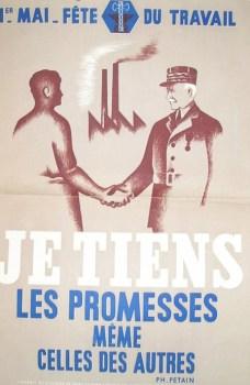 affiche 1er mai avec Pétain