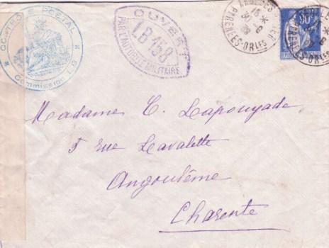 controle-postal LB 158