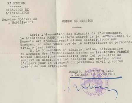 17 juin 1940 évacuation des éléments armés à Rennes