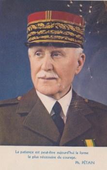 message du maréchal Pétain