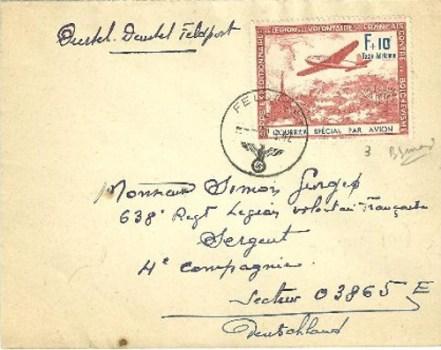LVF feldpost 03865 09 1942