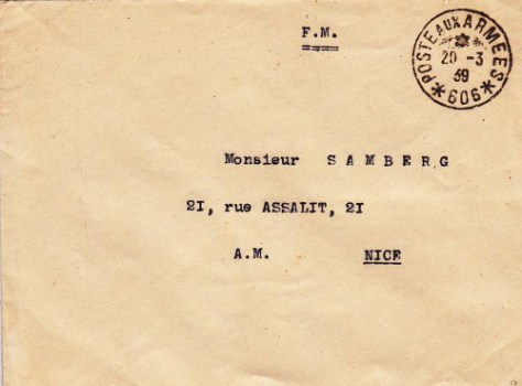 SP 606  20 03 1939