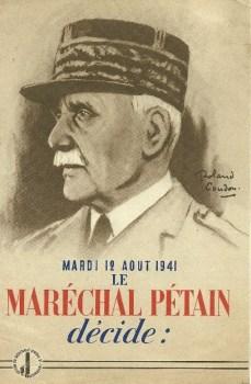 12 08 1941 le maréchal décide