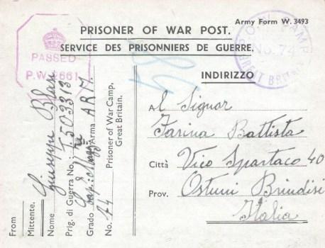 prisonniers de guerre allemands en GB camp n°74