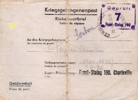 prisonniers de guerre front stalag 190