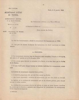 05 01 1944 commissariat sto lettre aux maires