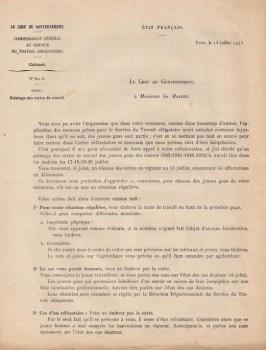 13 07 1943 commissariat sto lettre aux maires