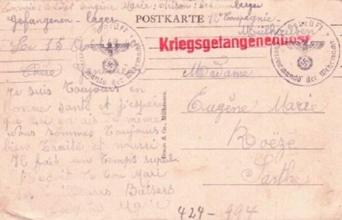 prisonniers de guerre front stalag de Mulhouse
