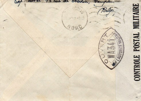 controle postal WA 341 verso