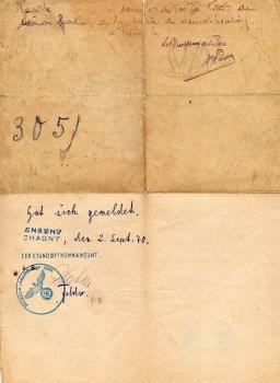 fiche démobilisation chagny 02 09 1940