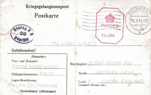 prisonniers de guerre stalag XB marlag 20 09 1941