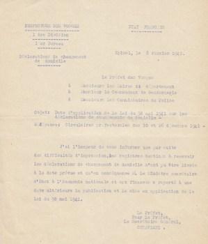 01 1942 déclaration de changement de domicile