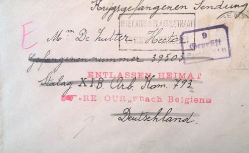 prisonnier de guerre belge libéré du stalag XI B