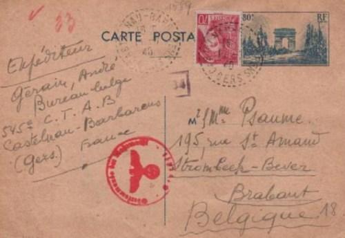 armée belge repliée dans le sud-ouest