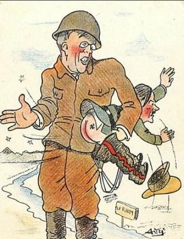 les alliés traversent le Rhin