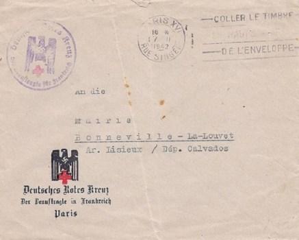 siège de la croix rouge allemande à Paris