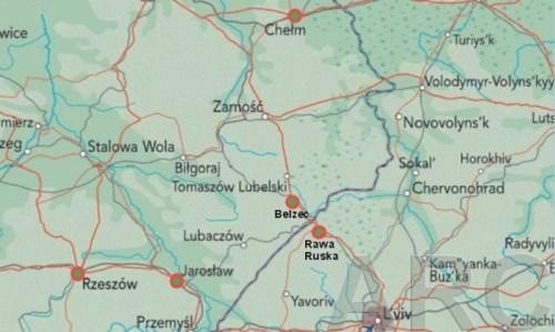 situation géographique du stalag n°325