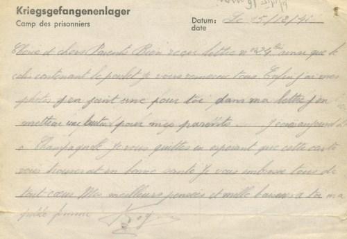 15 12 1941 stalag IX C